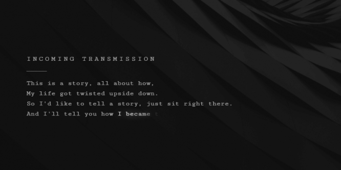 TRANSMISSION: GLOWING TEXT ANIMATION