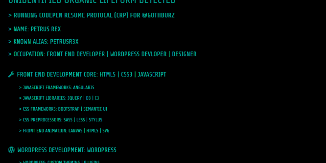 CODEPEN RESUME HEADER BACKGROUND
