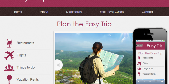 Easy Trip web and mobile website template
