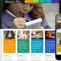 Education Plan web template and mobile website template