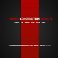 Ferrari Red Under Construction web and mobile website template