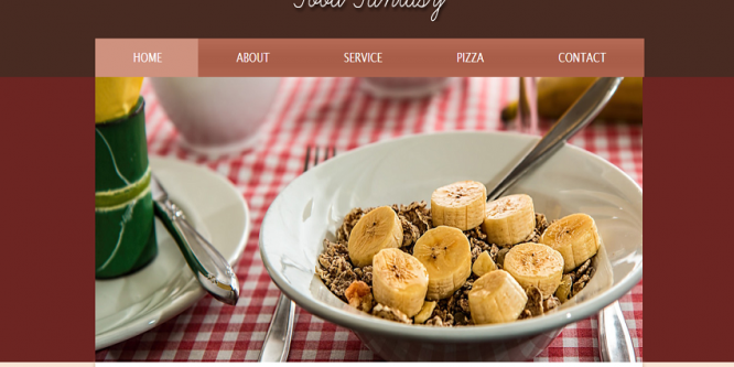 Food Fantasy web and mobile website template