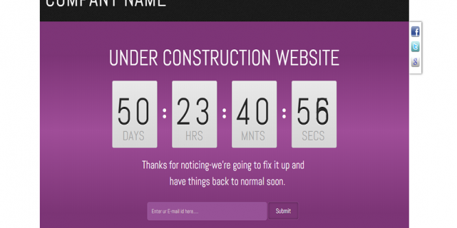 Franze under construction web and mobile template