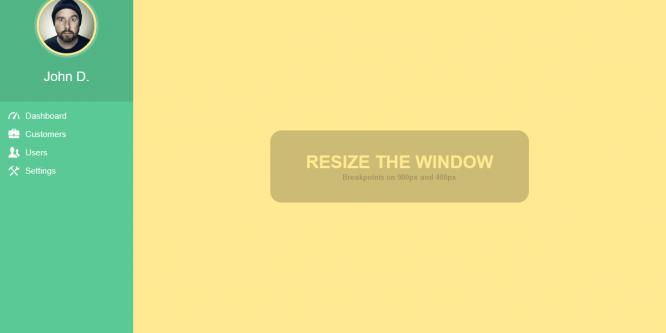 FULLY RESPONSIVE CSS3 SIDEBAR MENU