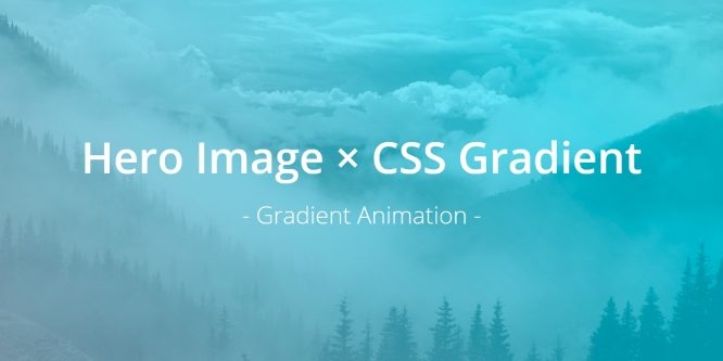 HERO IMAGE AND CSS GRADIENT