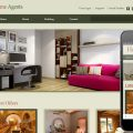 Home Agents web and mobile website template