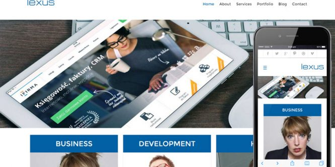 Lexus web and mobile website template