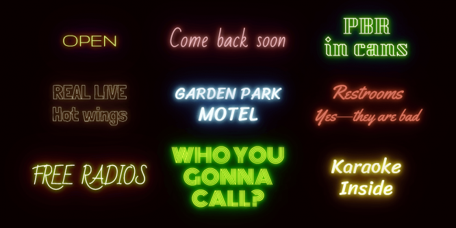 NEON TEXT-SHADOW EFFECT