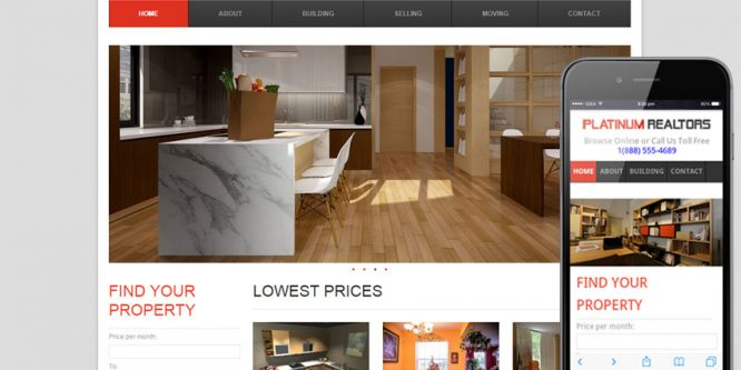 Platinum Realtors web and mobile template