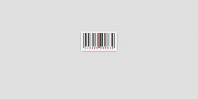 PURE CSS BARCODE (UPC-A)