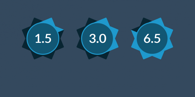 PURE CSS STAR RATING FROM 0 TO 8 WITH COLORED POINTS OF THE STAR