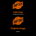 SHOP TALK LOGO MADE IN CSS