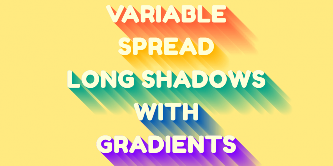 VARIABLE LONGSHADOW WITH GRADIENTS MIXIN