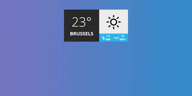 WEATHER POPUP/WIDGET