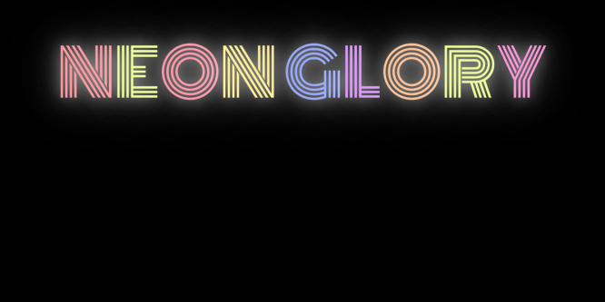 NEON TEXT FLICKER GLOW