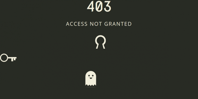 ACCESS NOT GRANTED – 403 PAGE TEMPLATE