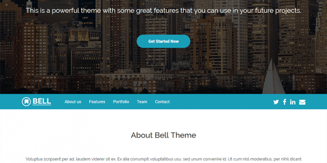 Bell – Free Multipurpose Bootstrap 4 Template