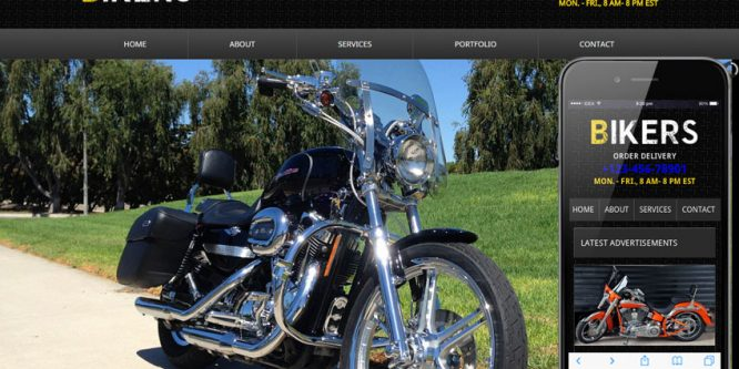 Bikers web and Mobile Template