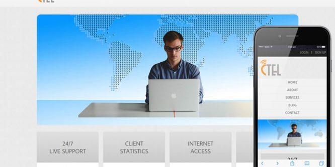 CTEL Corporate mobile web Templates