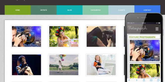 Fotograph web and mobile website template