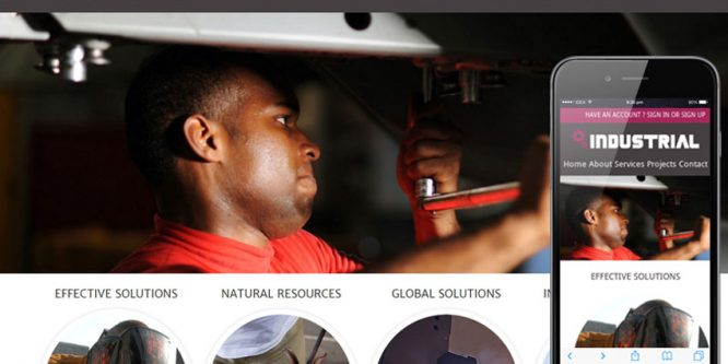 Industrial Mobile web template