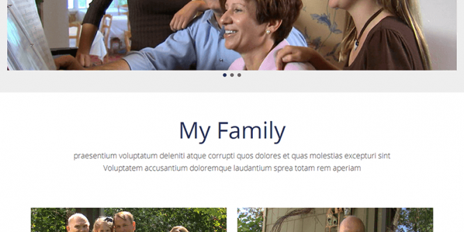 Me & Family – MultiPurpose HTML Bootstrap Template