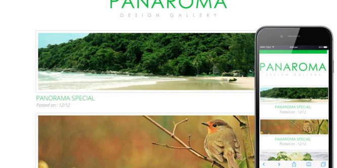 Panorama web and mobile website template