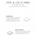 HTML & CSS IS HARD. BUT IT DOESN'T HAVE TO BE.