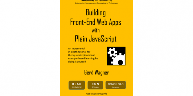BUILDING FRONT-END WEB APPS WITH PLAIN JAVASCRIPT