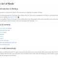 THE ART OF NODE