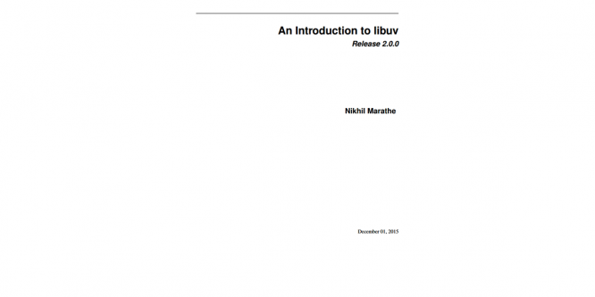 AN INTRODUCTION TO LIBUV