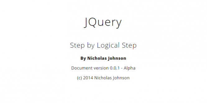 JQUERY. STEP BY LOGICAL STEP