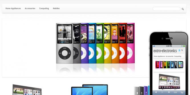 Electronics E-commerce Shopping Mobile Template