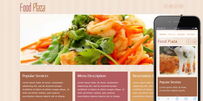 Food Plaza Mobile Website Template