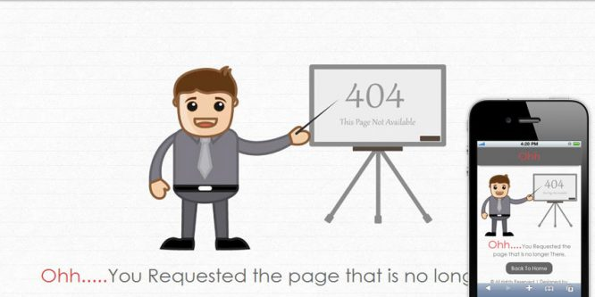Ohh 404 Mobile Website Template