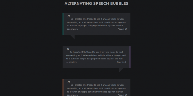 ALTERNATING SPEECH BUBBLES