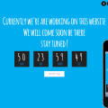 Blue Sky Under Construction Mobile Website Template