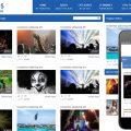 Videostube video gallery Mobile Website Template