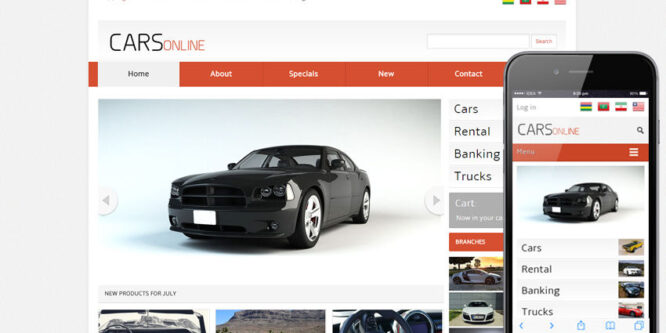 Cars Online – Automobile Website Template