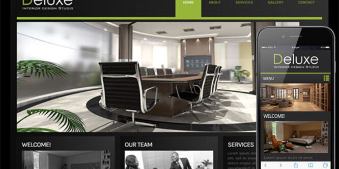 Deluxe a interior architects Mobile Website Template