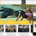Fitness Club a body fitness studio Mobile Website Template