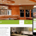 Indoor interior architects Mobile Website Template