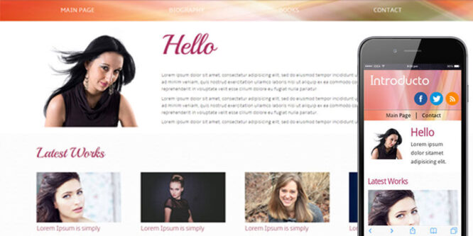 Introducto personal portfolio web and Mobile Website Template