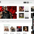 MusicX online music Entertainment Mobile Website Template