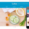 Lotus Parlour Mobile Website Template