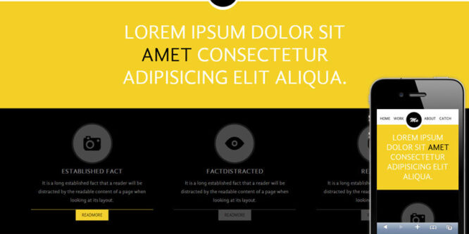 Me personal portfolio web and Mobile Website Template