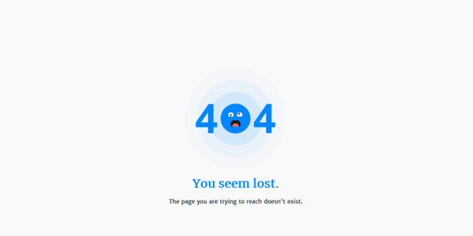 PURE CSS 404 ERROR PAGE