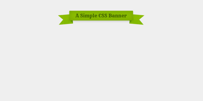 SIMPLE CSS BANNER