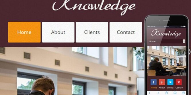 Knowledge Education Mobile Website Template