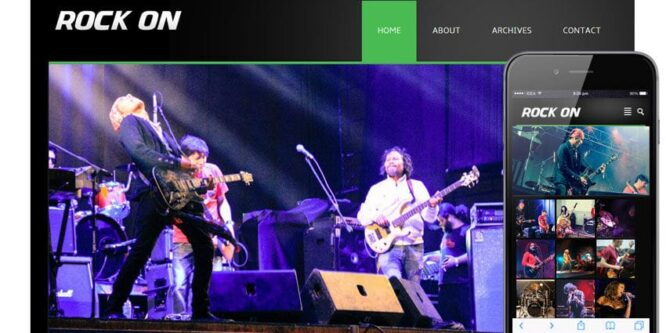 Rock On online music Entertainment Mobile Website Template